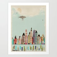 minnesota Art Prints featuring visit minneapolis minnesota by bri.buckley