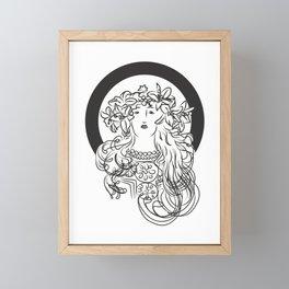Mucha's Inspiration Framed Mini Art Print