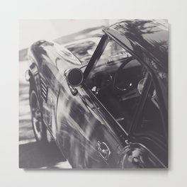 Fine art print, classic car, triumph, spitfire, b&w photo, still life, interior design, old car Metal Print