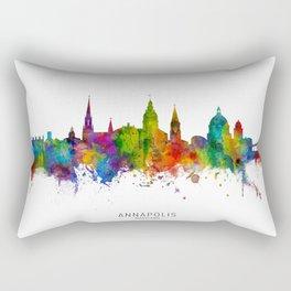 Annapolis Maryland Skyline Rectangular Pillow