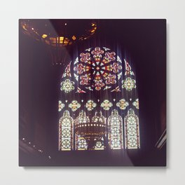 Stained Glass Church Metal Print