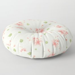 pink flowers pattern spring nature Floor Pillow