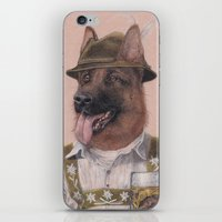 german iPhone & iPod Skins featuring German Shepherd by Rachel Waterman