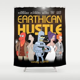 Earthican Hustle parody movie poster - C Shower Curtain