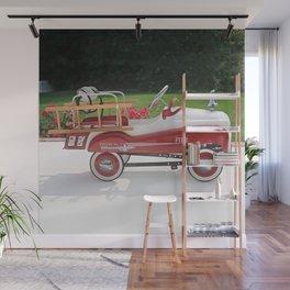 Generic Childs Metal Pedal Car Firetruck Car Wall Mural