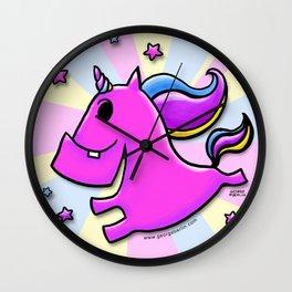 Fab-yoo-lous Unicorn! Wall Clock