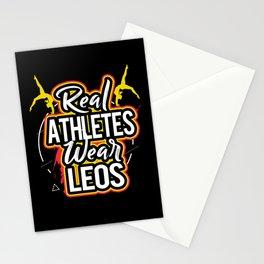 Gymnastics Real Athletes Wear Leos Leotard Gymnast Stationery Cards