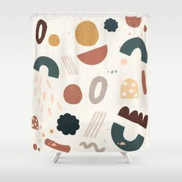 Geo Shapes Party Shower Curtain