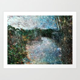Riverwalking Art Print