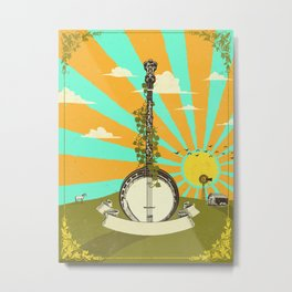 BANJO SUNRISE Metal Print