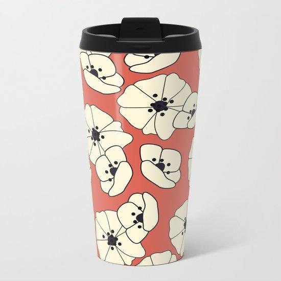 Retro bloom 004 Metal Travel Mug