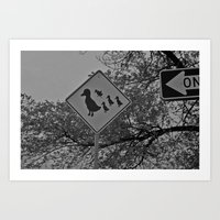 Duck Crossing  Art Print