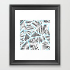 Ab Linear with Electric Framed Art Print