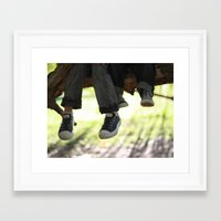 converse Framed Art Prints featuring Converse by joonitree photography