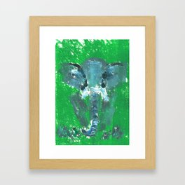Abstract Elephant Framed Art Print