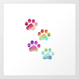 Paws print Art Print