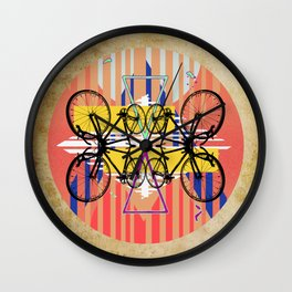 Triangle Bicycles Wall Clock