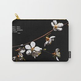 Sakura flowers on black 04 Carry-All Pouch