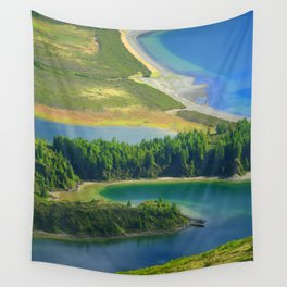 Colorful lake Wall Tapestry