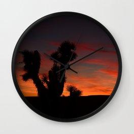 Desert Sunset Silhouettes - II Wall Clock