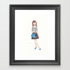 Peter Pan Collar Framed Art Print