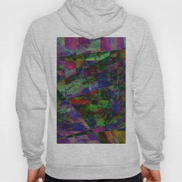 Colourful Memories - Abstract, geometric, textured, dark painting Hoody