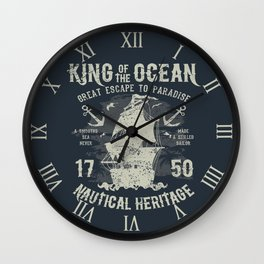 King of the Ocean Wall Clock