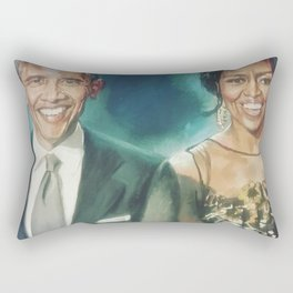 Barack & Michelle Obama Rectangular Pillow