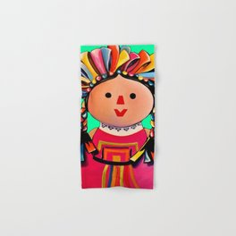 Mexican Maria Doll 3 Hand & Bath Towel