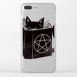 WITCHCRAFT CAT (Blue) Clear iPhone Case