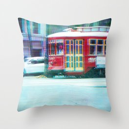 Streetcar on Canal Street Throw Pillow
