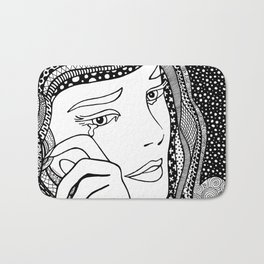 Roy Lichtenstein - Crying girl Bath Mat