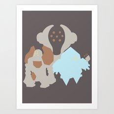Pocket Monster 377, 378 and 379 Art Print