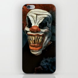 Scary Clown Blue Smoke iPhone Skin
