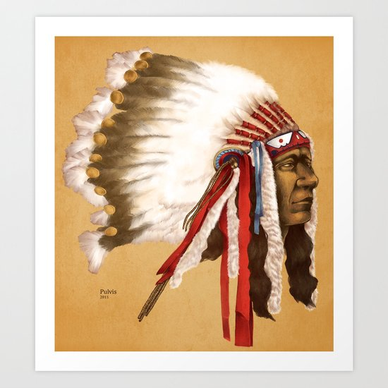 Crow Native American Art Print