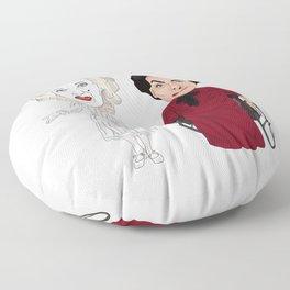 Whatever Happened to Baby Jane, Bette Davis, Joan Crawford Inspired Illustration Floor Pillow