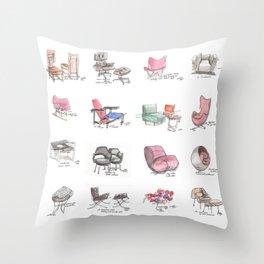 Classic Chair Designs Throw Pillow
