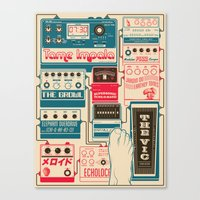 tame impala Canvas Prints featuring Tame Impala Pedals by Pancho Veit