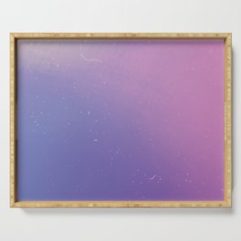 Faded Vintage Pink and Purple Ombre Galaxy Serving Tray