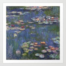 Water Lilies - Claude Monet Art Print