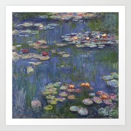 Water Lilies - Claude Monet Art Print