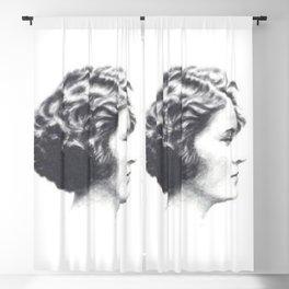 A portrait of Zelda Fitzgerald Blackout Curtain