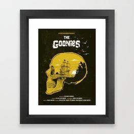 The Goonies art movie inspired Framed Art Print
