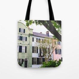 Rainbow Row in Charleston, SC Tote Bag