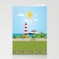 denmark Stationery Cards featuring Landscape of Denmark by Design4u Studio