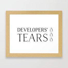 Developers' Tears Vicious Framed Art Print