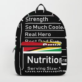 Guyanese Dad Nutrition Facts Fathes Backpack