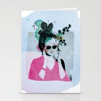 sunglasses Stationery Cards featuring Sunglasses by Lorene R illustration