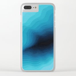 Cubed Glacier III Clear iPhone Case