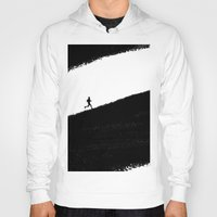 running Hoodies featuring Running by eARTh